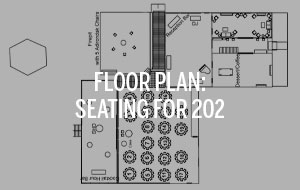 Radnor Hunt Floor Plan with seating for 202 guests