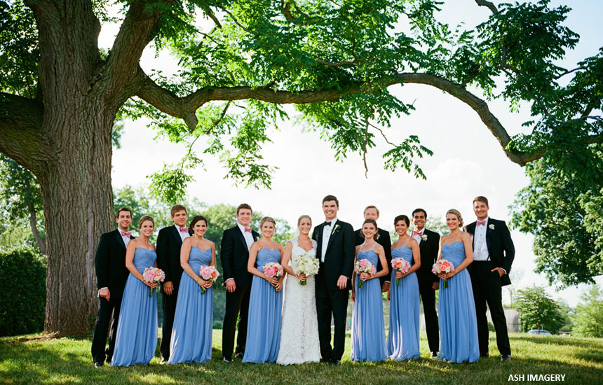 Kristin & Matt bridal party at Radnor Hunt