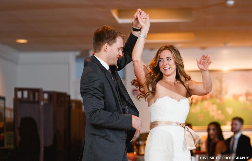 Gretchen and Dan's first dance at Radnor Hunt
