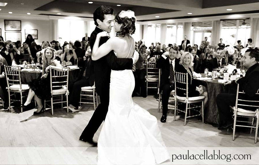Natalie and Nick's first dance