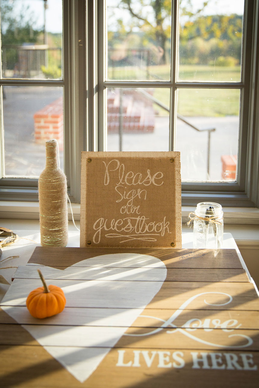 Burlap and Wood Guestbook to Sign
