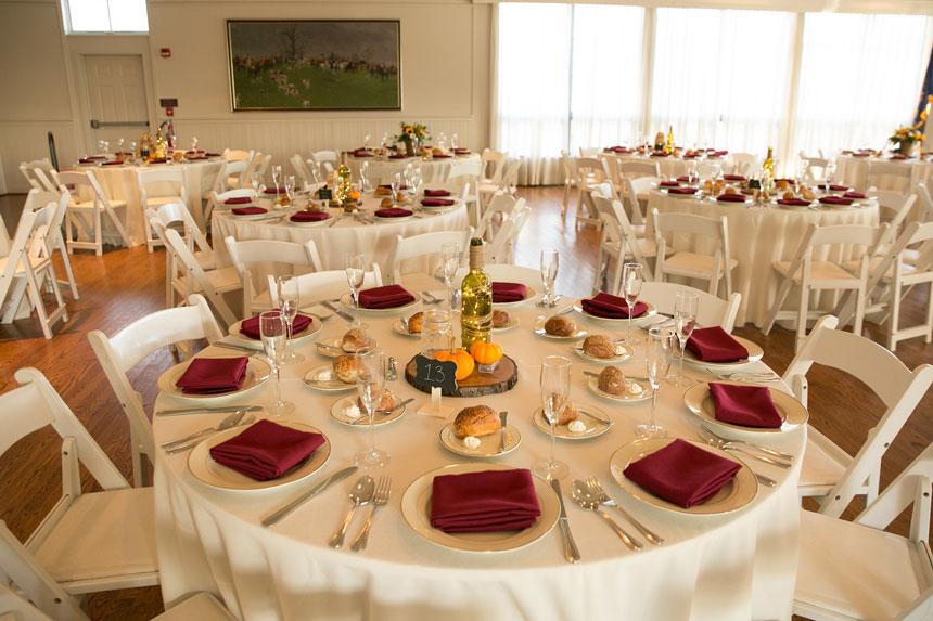 Rustic Wedding Table Setting at Radnor Hunt