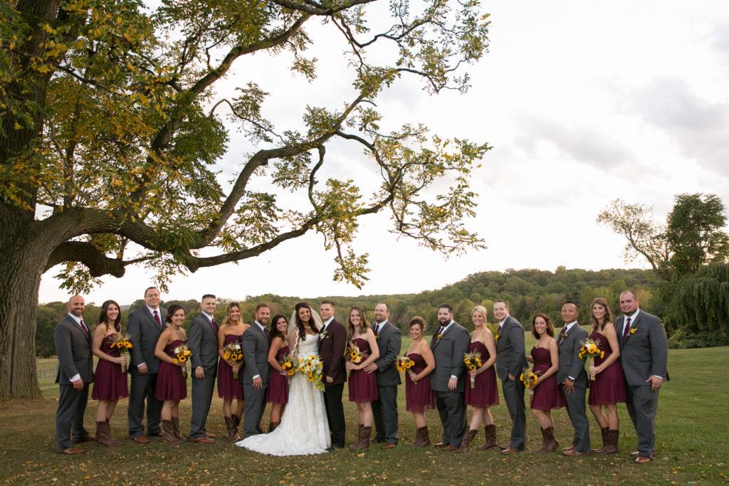 Caley & Travis' Rustic Wedding at Radnor Hunt