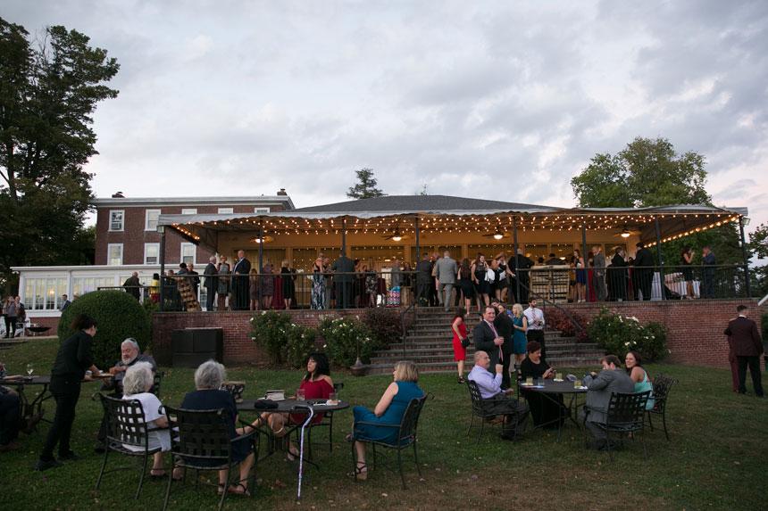 Outdoor Wedding Reception at Radnor Hunt