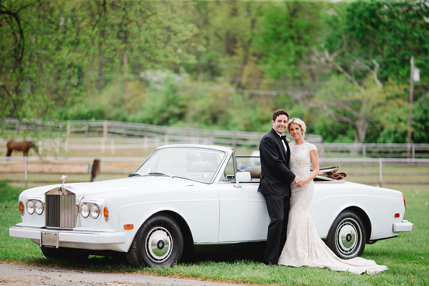 Bride and Groom at Radnor Hunt Venue