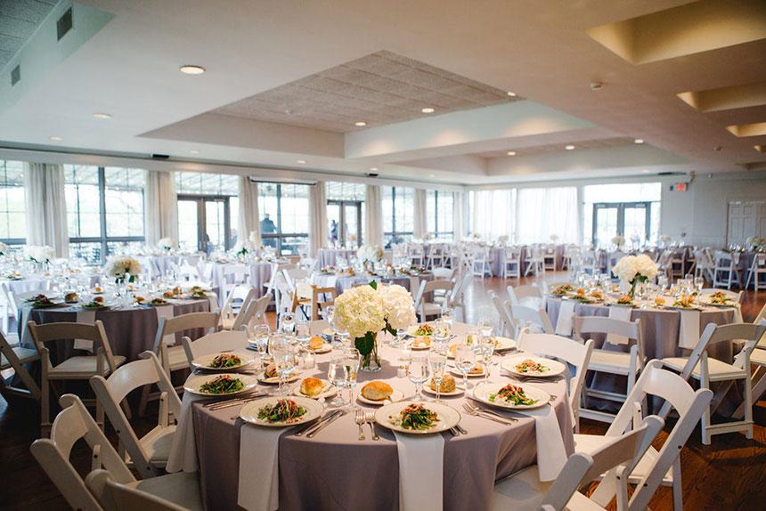 Table Setting at Wedding at Radnor Hunt Wedding