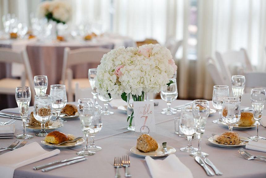 Table Setting at Radnor Hunt Wedding