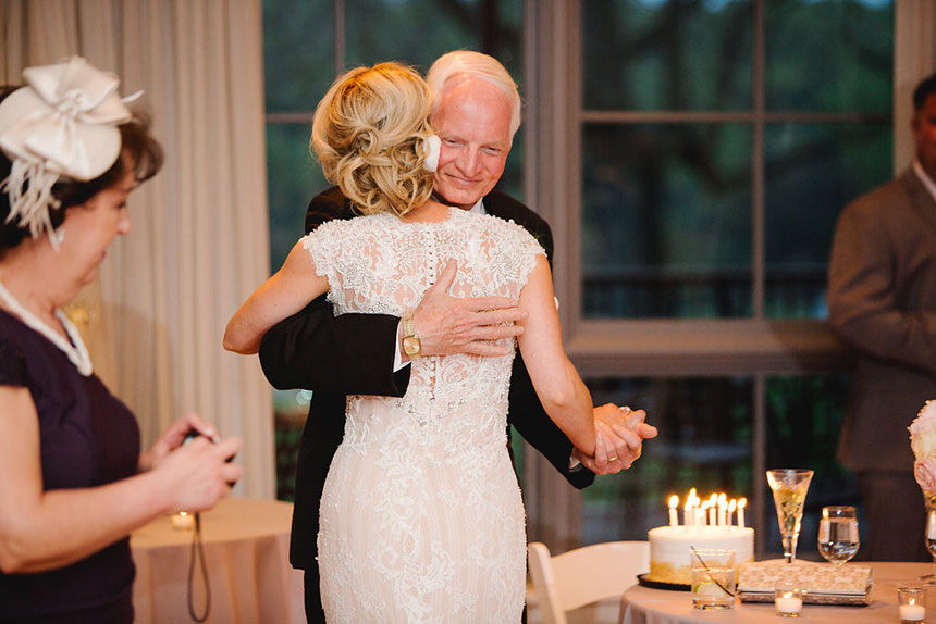 Bride and Father of the Bride Celebrate Birthday