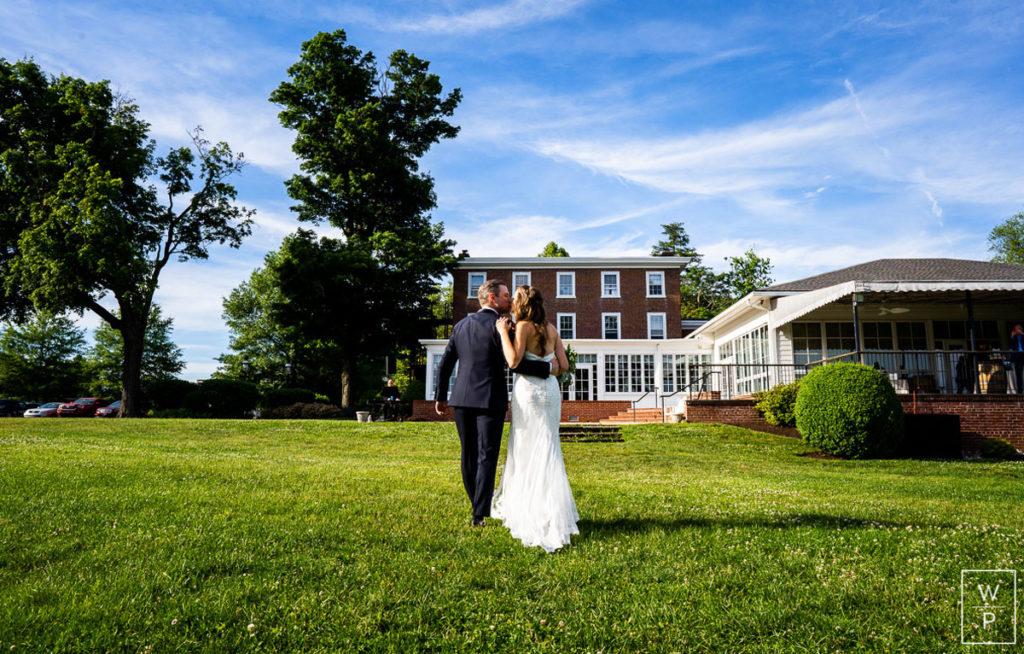 Bride and groom at radnor hunt